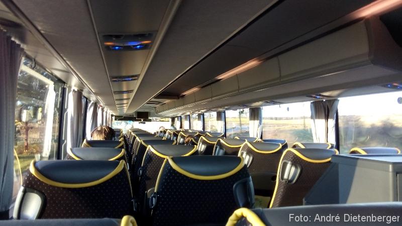 ADAC Postbus Fahrgastraum