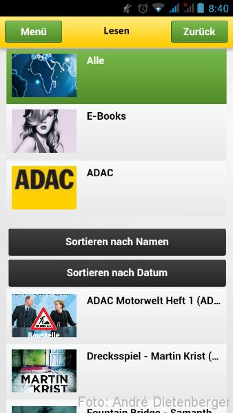 ADAC Postbus APP Lesen
