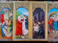 Freiburger Hochaltar, Außenansicht, Weihnachtstafeln, Vier Szenen aus dem Leben der Maria (1516)