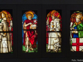 Vier Scheiben aus der Kreuzgangverglasung der Freiburger Kartause (1513-1520)