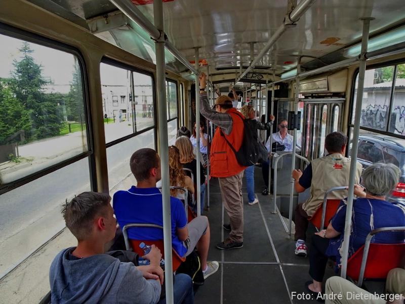 Belgrad - Straßenbahn innen