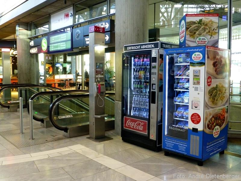 Der Regiomat im Terminal 1 des Flughfen Stuttgart