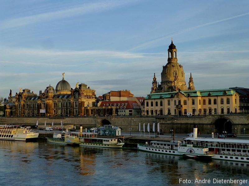 Dresden - Hochschule für Bildende Künste, Frauenkirche, Terrassenufer