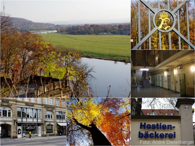Dresden - Elbhänge, Schlösser, Pfund, Gedenkstätte Bautzner Straße Dresden, Hostien Bäckerei