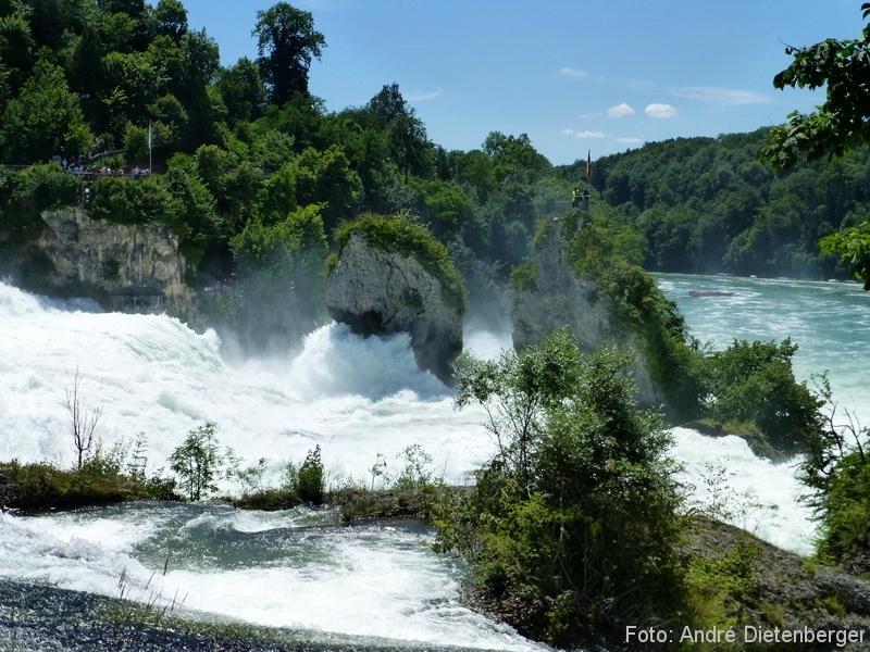 Rheinfall - von oben