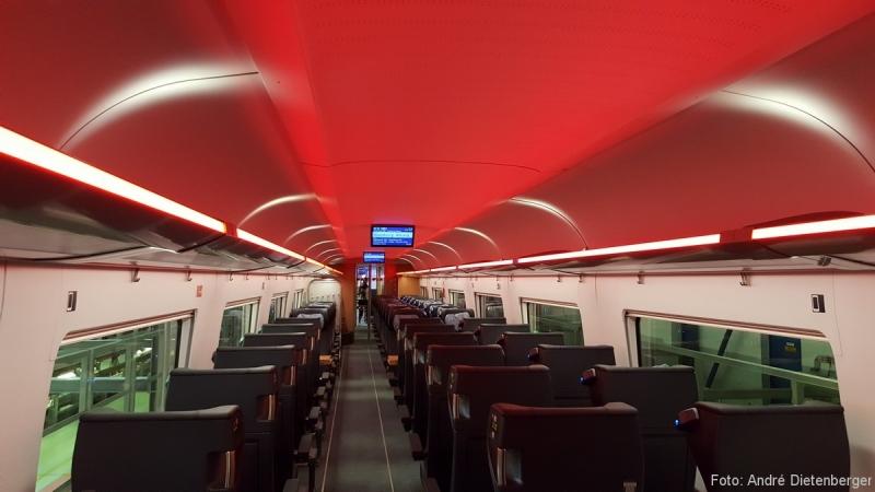 ICE 4 - Beleuchtungskonzept Rot