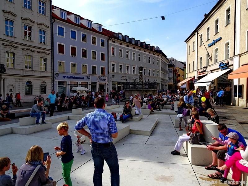 Regensburg - Neupfarrplatz, Gedenkort Jüdisches Viertel