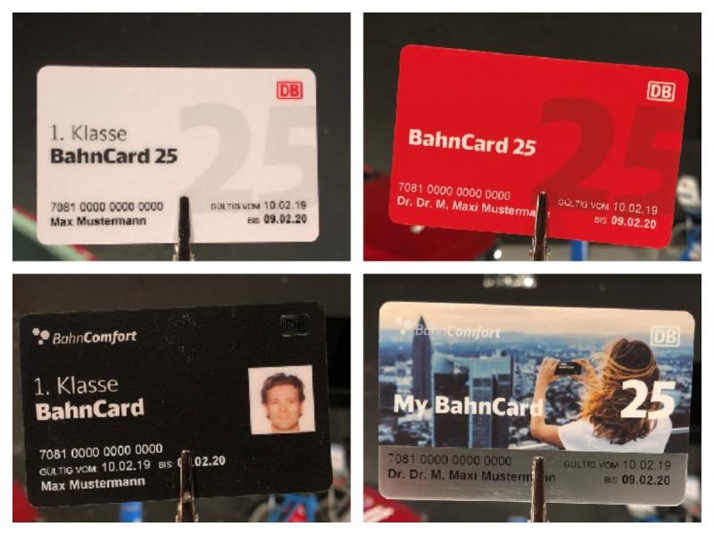 Neues BahnCard Design