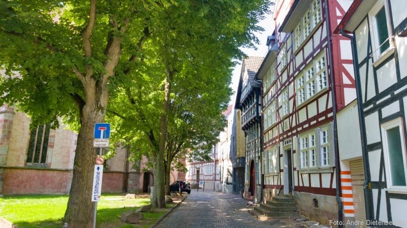 Historische Fachwerkbebauung um die Stadtkirche