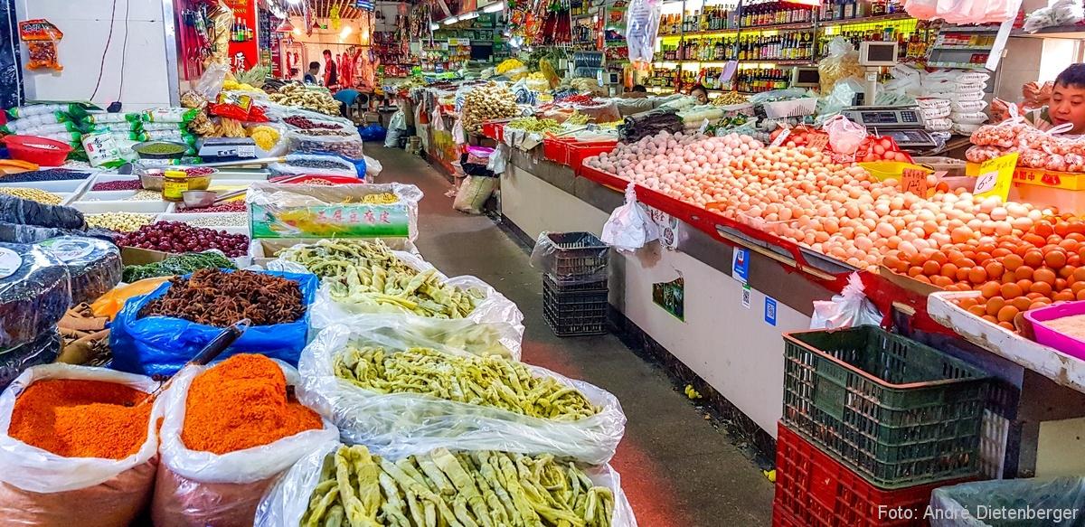 Markt bei der Shantangjie