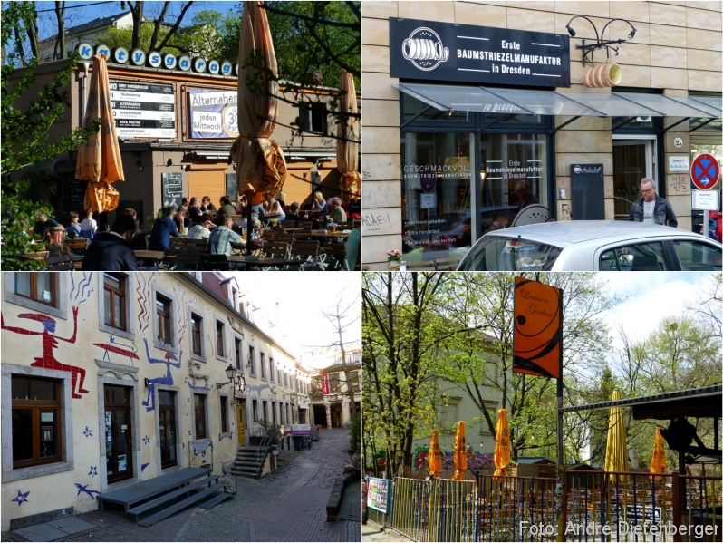 Dresden - Katy\'s Garage, Baumstriezelmanufaktur, Kunsthofpassage, Louisen Garten