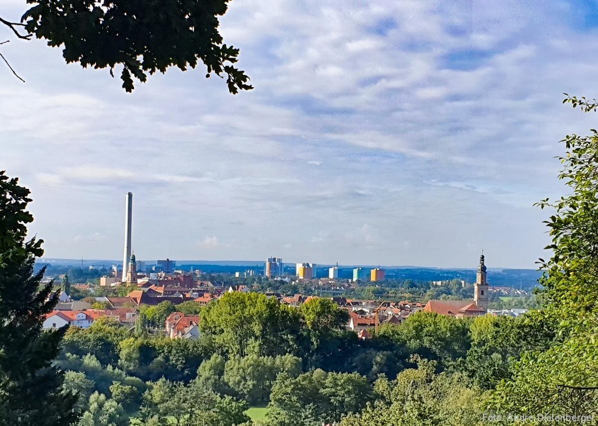 Blick vom Burgberg auf Erlangen