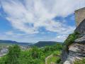Blick nach Geislingen von der Burgruine Helfenstein