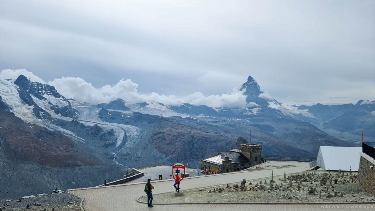 Sicht vom Gornergrat zum Matterhorn