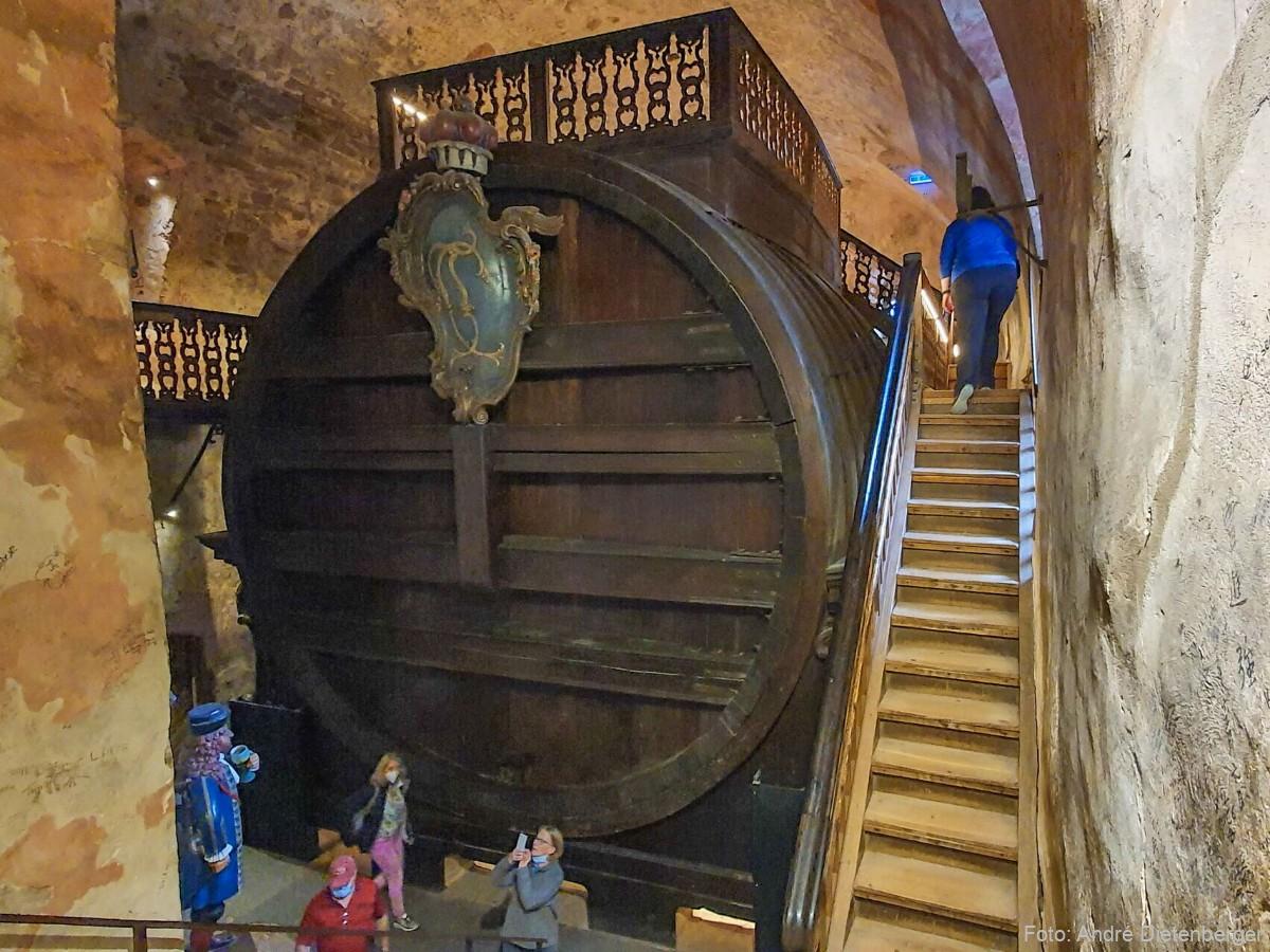 Riesenffass im Heidelberger Schloss