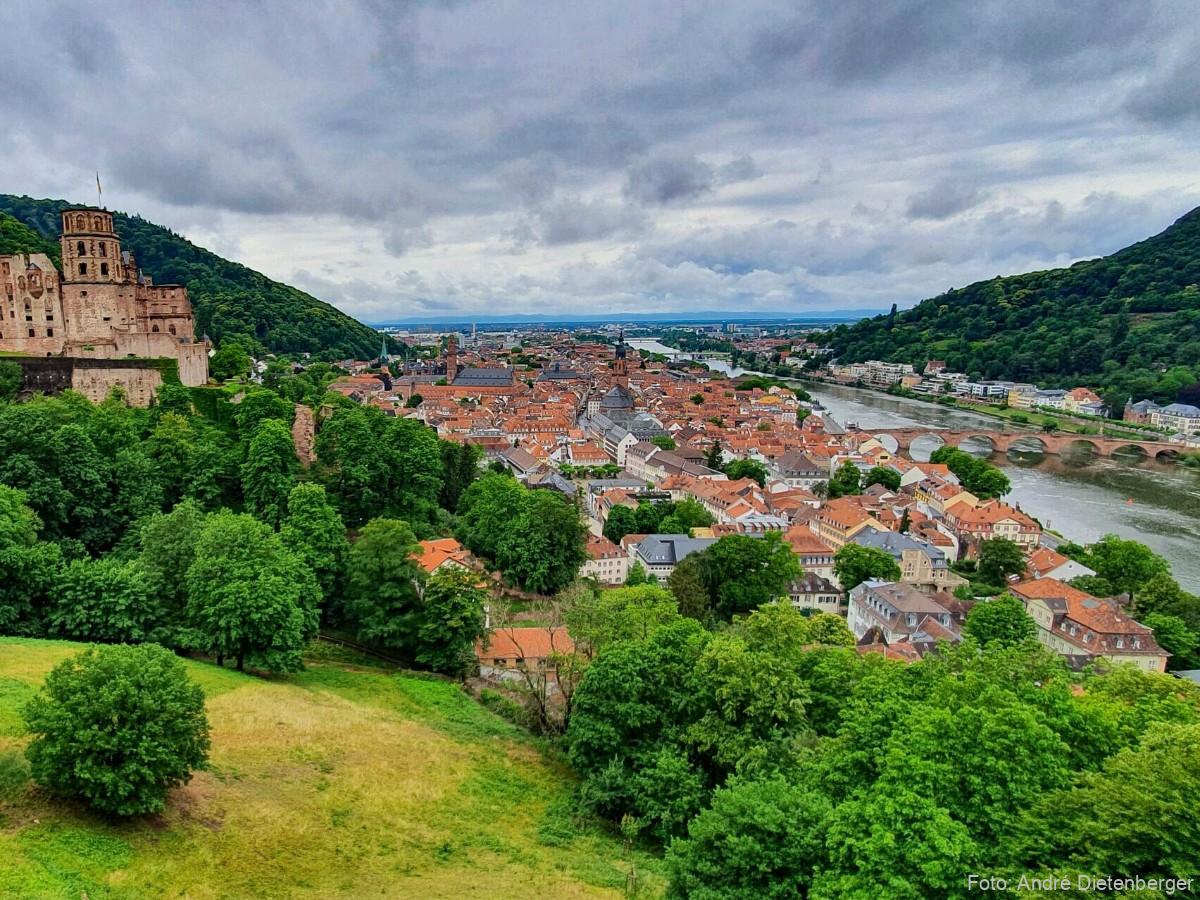Heidelberger Schloss, Altstadt und die Alte Brücke