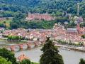 Blick auf Neckar, Schloss, Alte Brücke und Bergbahn