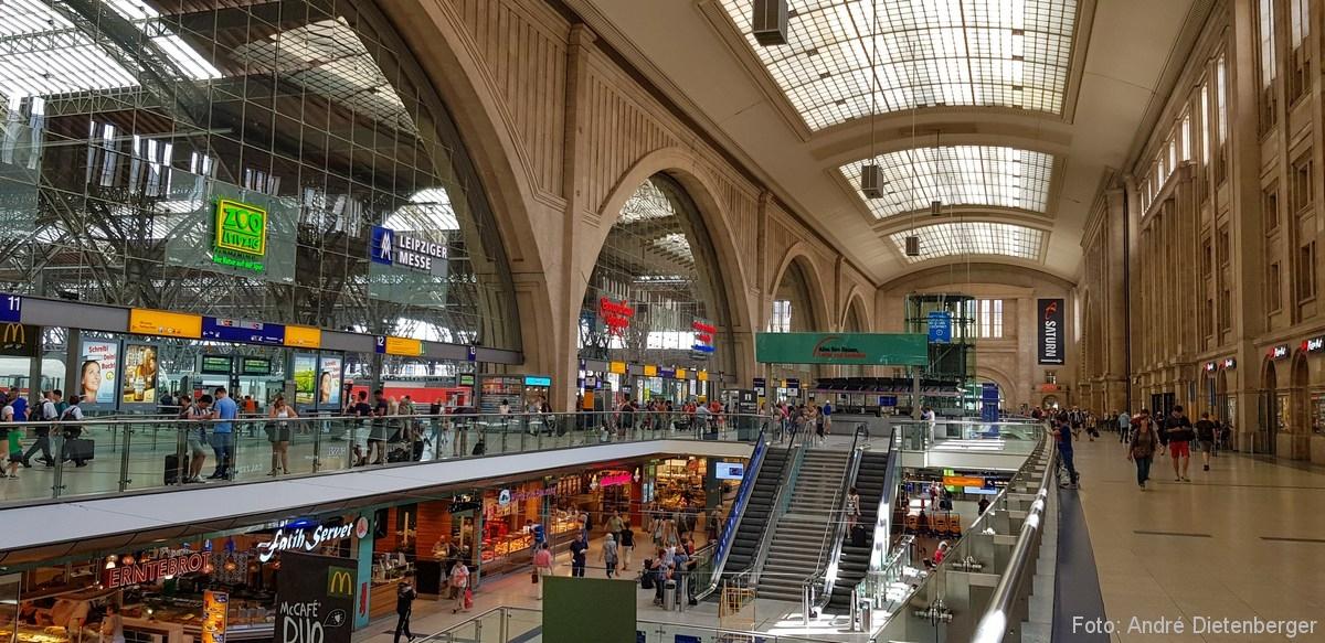 Leipzig Hauptbahnhof Promenaden