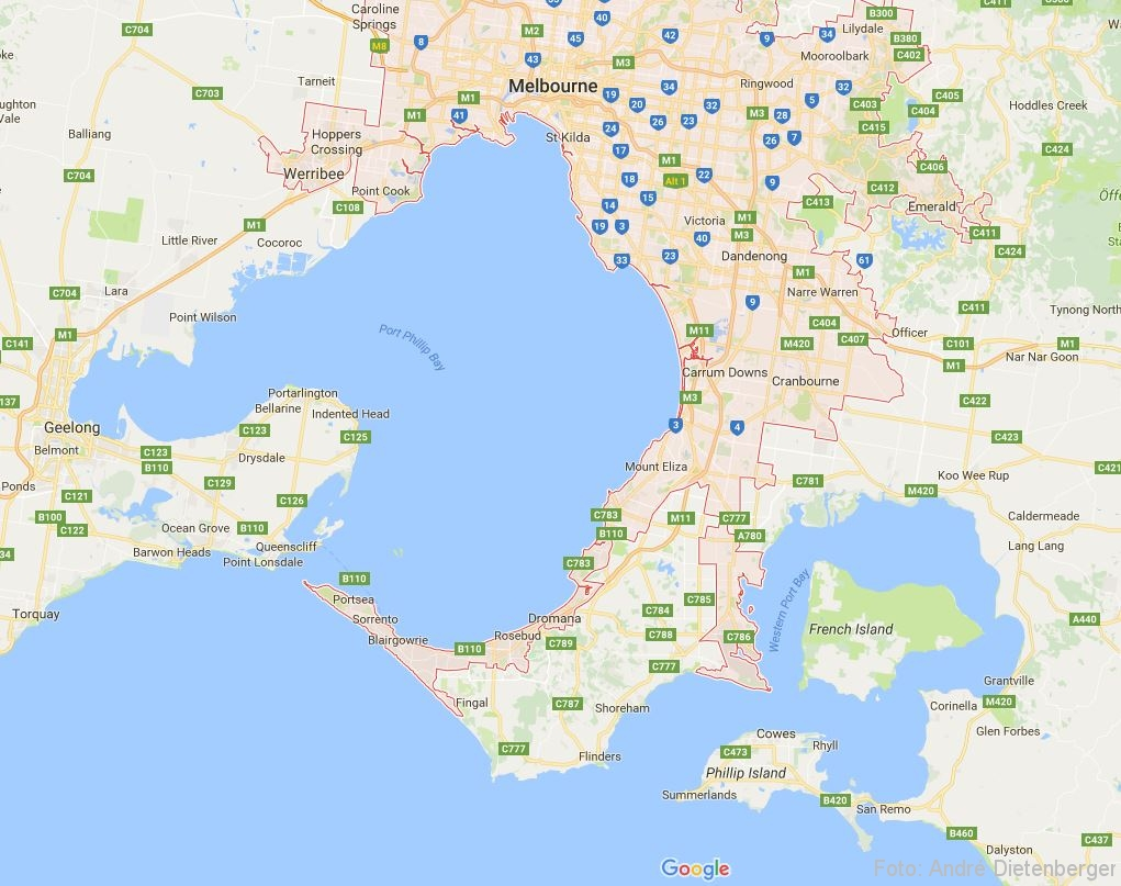 Melbourne by Google Maps (c)