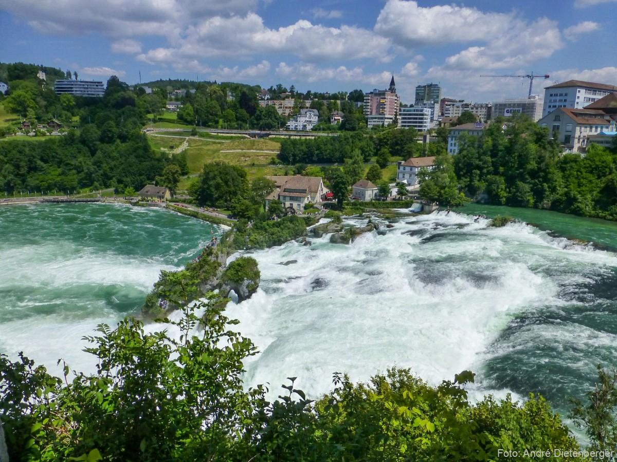 Rheinfall - Sicht vom Schloss Laufen