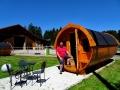 Biohof Gerspach - Holzfass mit reiseblögle