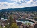 Schaffhausen - Blick vom Munot auf den Rhein