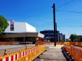 Theater Ulm mit Baustelle