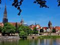 Ulm Stadtansicht mit Donau