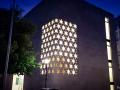 Neue Synagoge Ulm bei Nacht