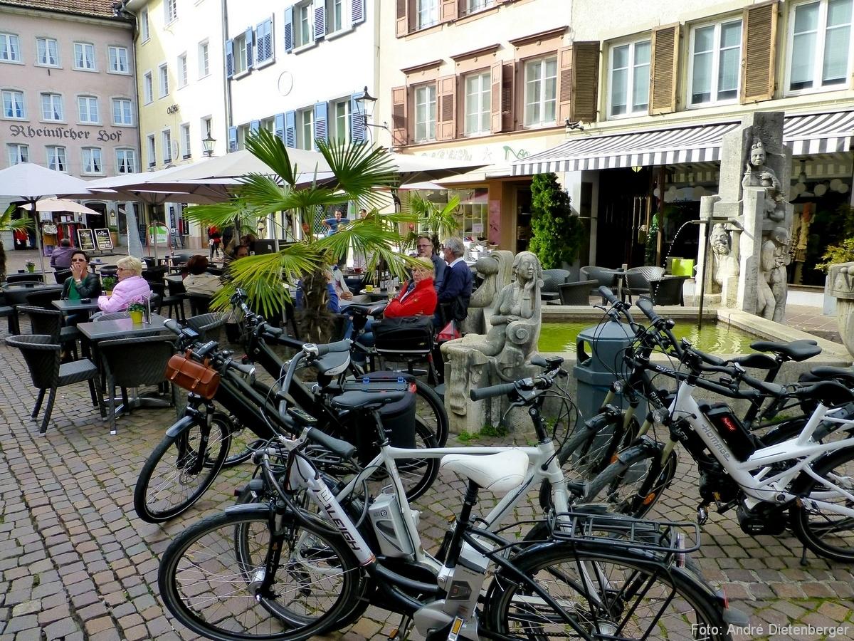 Kaiserstraße mit Fahrrädern