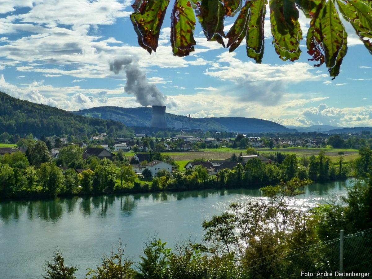 Aussicht auf Kernkraftwerk Leibstadt (KKL)