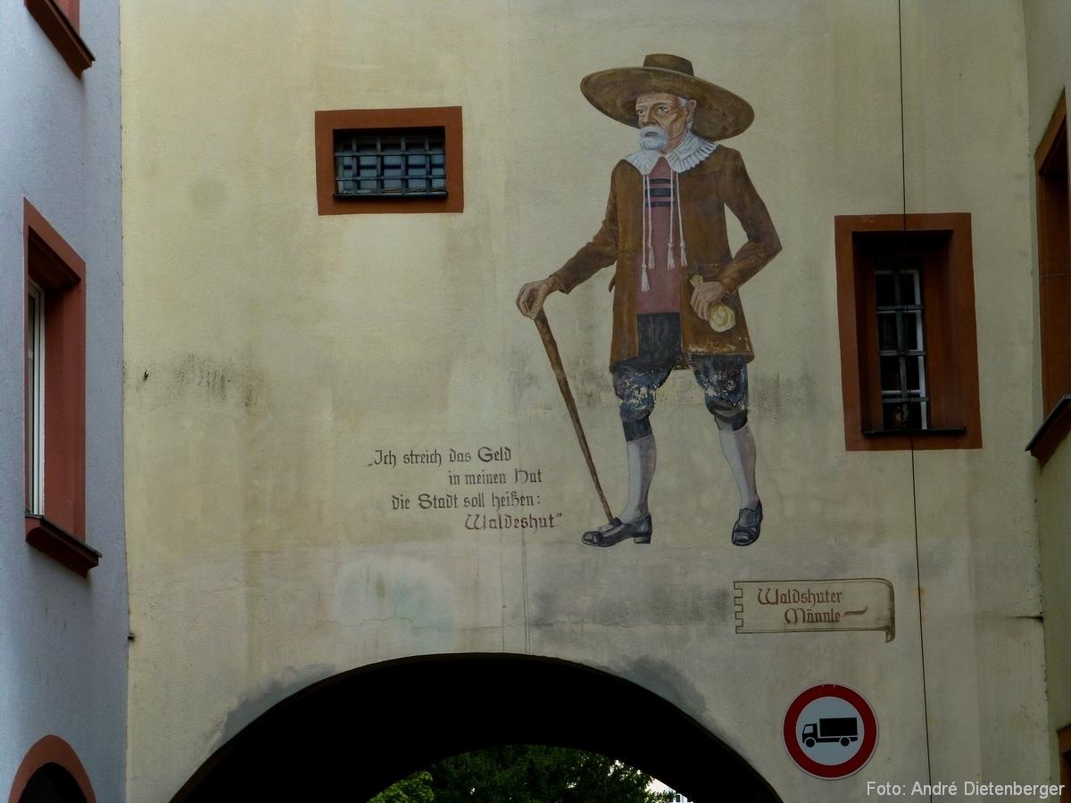 Oberes Tor (Schaffhauser Tor) - Innen mit Waldshuter Männle