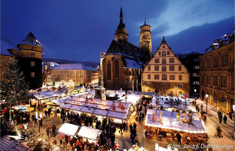 Weihnachtsmarkt Stuttgart - Schillerplatz